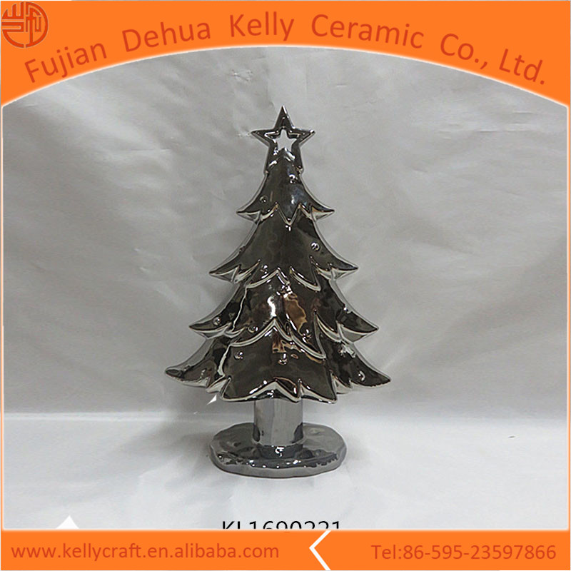 Plating ceramic decorative christmas sales tree wholesale