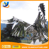 Large Size stainless steel Flying Eagle Statue sculpture,garden statues eagle