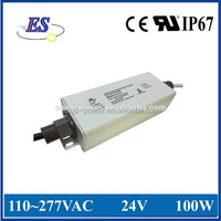 100W 24V 4.2A High Power Constant Voltage Dimmable LED Driver with 1-10V Dimming,UL IP67