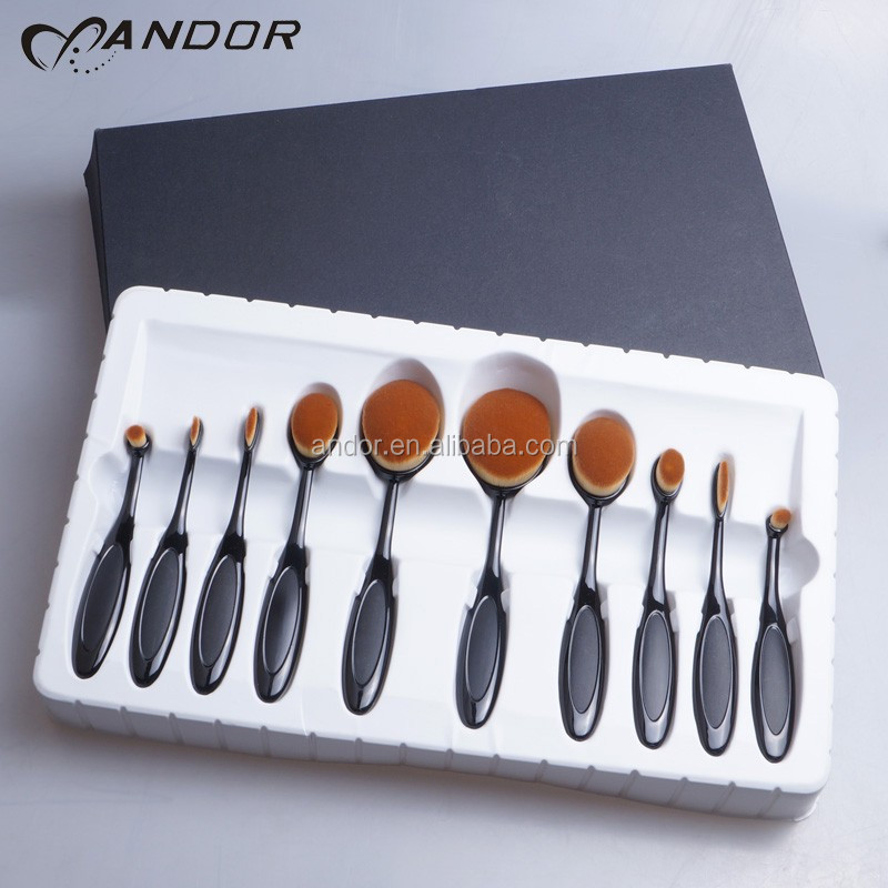 cheapest price professional black cosmetic brush set factory directly sale