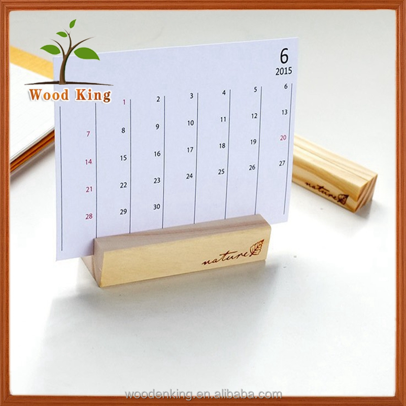 Multi-Function Zakka Fashion Diy Solid Wood The Calendar Desk Calendar Rack Office Supplies Wooden Calendar Holder