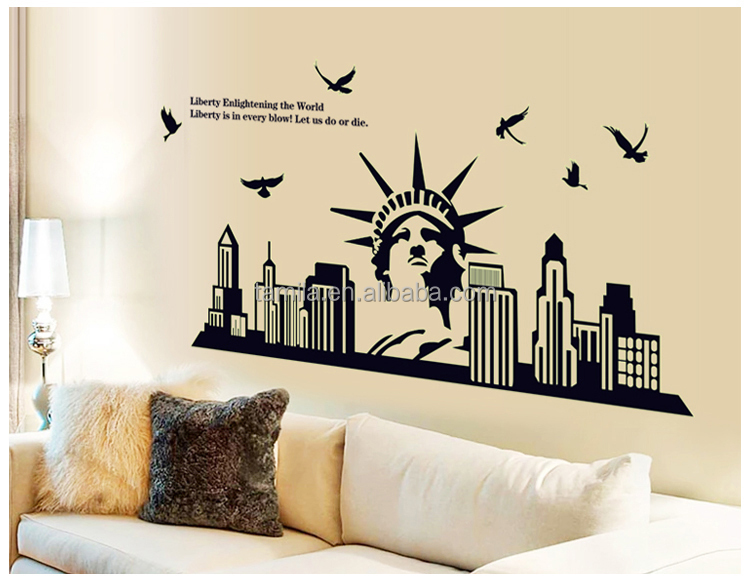 Home Decorative Glowing Sticker Statue Of Liberty Decoration Wall Sticker
