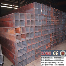 ERW welded cold rolled Q235 rectangular/square carbon steel pipe/ tube