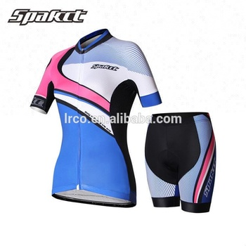 spakct cycling jersey suit short sleeve women cycling apparel custom china team jersey