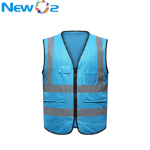 China factory wholesale high visibility night reflective <strong>safety</strong> vest with pockets
