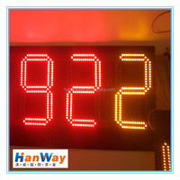 red and yellow 10 inch 3 digit led display countdown timer