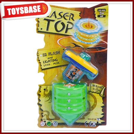 Electronic musical super peg top toy