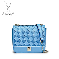 fashionable style women messenger bag fresh flap with PU and nylon ribbon