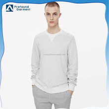 wholesale long sleeve stripe youth 100 cotton plain slim fit sweatshirt for men