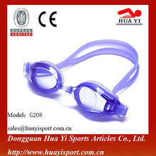 Custom logo Brand wide vision adult anti-fog high end swimming goggles