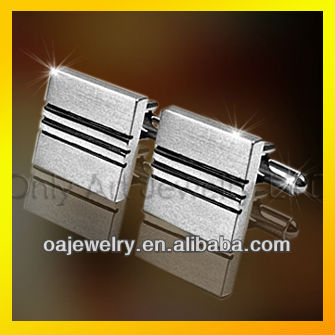 square shape with channeled cufflinks