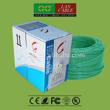 Professional Maker 305m 1000ft FR PVC Sheath 4PR 24AWG 0.51mm Solid Oxygen Free Copper Cat5e UTP Network Cable