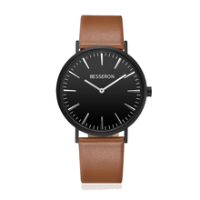 Design Your Own Men Watch Leather Company Name Branded Wrist Watch Blank Dial Custom Male Watch Oem
