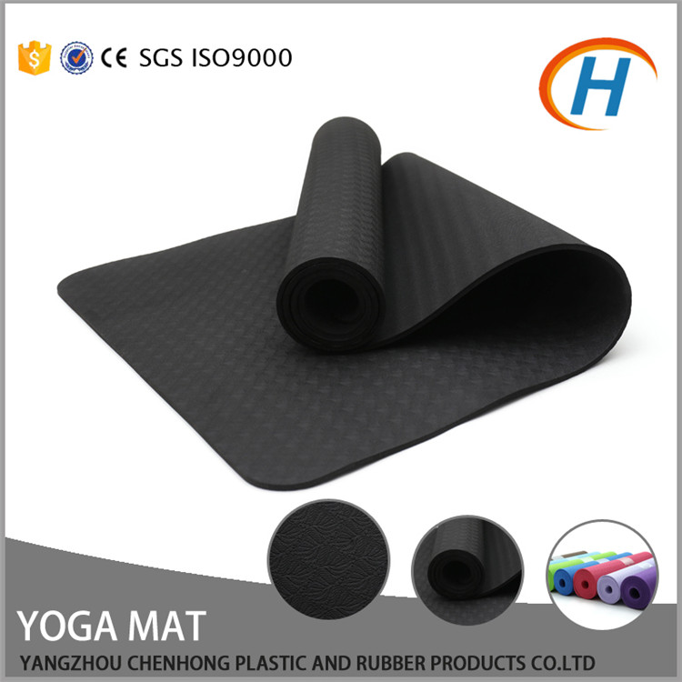 Black exercise/yoga mat, yoga mats cheap, import yoga mats