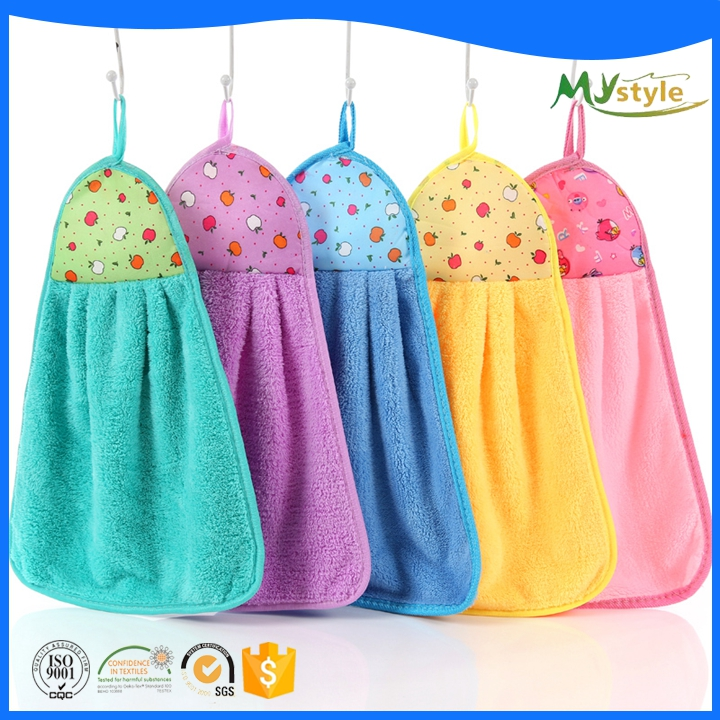 Hot sale cheap custom quick drying hang towel kitchen towel set
