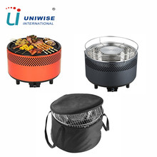 China suppliers Charcoal lotus barbeque battery operated smokeless bbq grill
