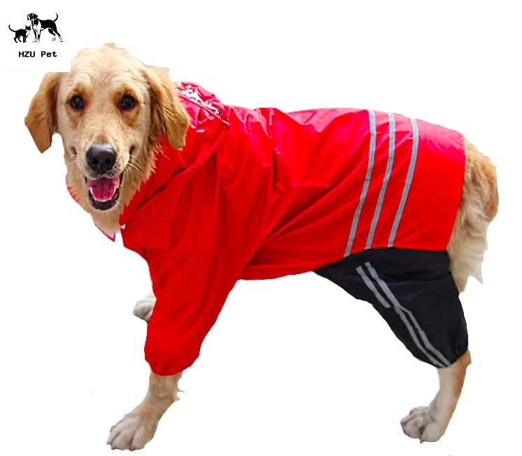 HZU Pretty waterproof reflective pet dog rain coat clothes for dog jacket