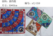 Good quality promotional cheap floral print silk scarf and shawl