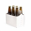 White cardboard 6 pack bottle beer carriers accept customization