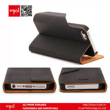 Book style leather case for mobile phone with multi-purpose pocket
