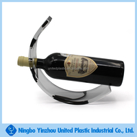 customizable decorative acrylic wine bottle holder