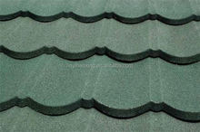 colorful sand coated steel roofing
