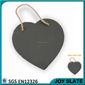 Custom design hanging slate heart with two holes and twine