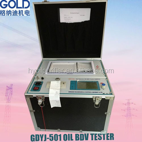 GDYJ-501 Transformer Oil Breakdown Voltage Tester / BDV Oil Breakdown Voltage Test Kit