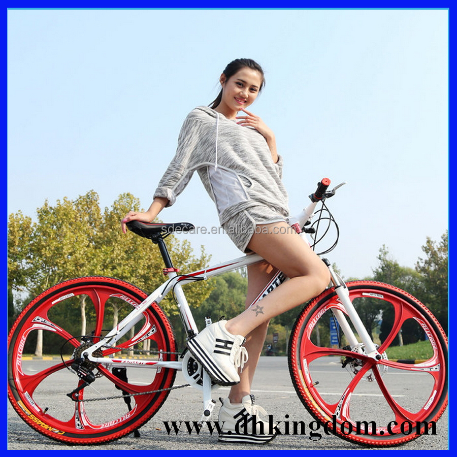 26'' inch 21 speed Alloy Suspension One-Piece Wheel Mountain bike