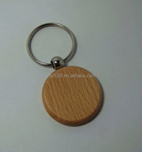 Engrave DIY Round Blank Wooden Key Chain Circle Carving Key Tags