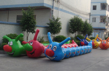 new design Popular Cheap inflatable caterpillar tunnel for kids party game
