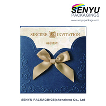 Classical business sincere invitation cards with embossed print