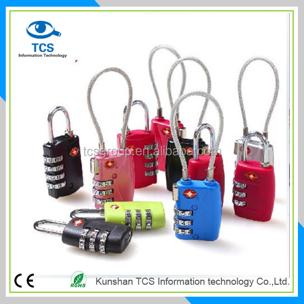 Factory directly supply zinc alloy TSA Certified travel luggage locks
