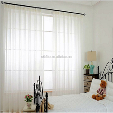 ruffle yellow fire retardant Sheer Curtain for bedroom