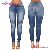 Popular Sexy Slimming Blue Women Jeans Trousers Women
