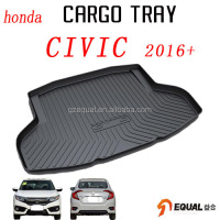 For honda civic vezel Jazz HR-V Accord 2016+ car trunk mat water proof trunk tray 3D cargo liner no smell boot liner