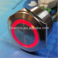 25mm IP67 waterproof momentary push button switch 12v