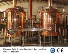 red copper beer brewing system 1000L bar brewery equipment