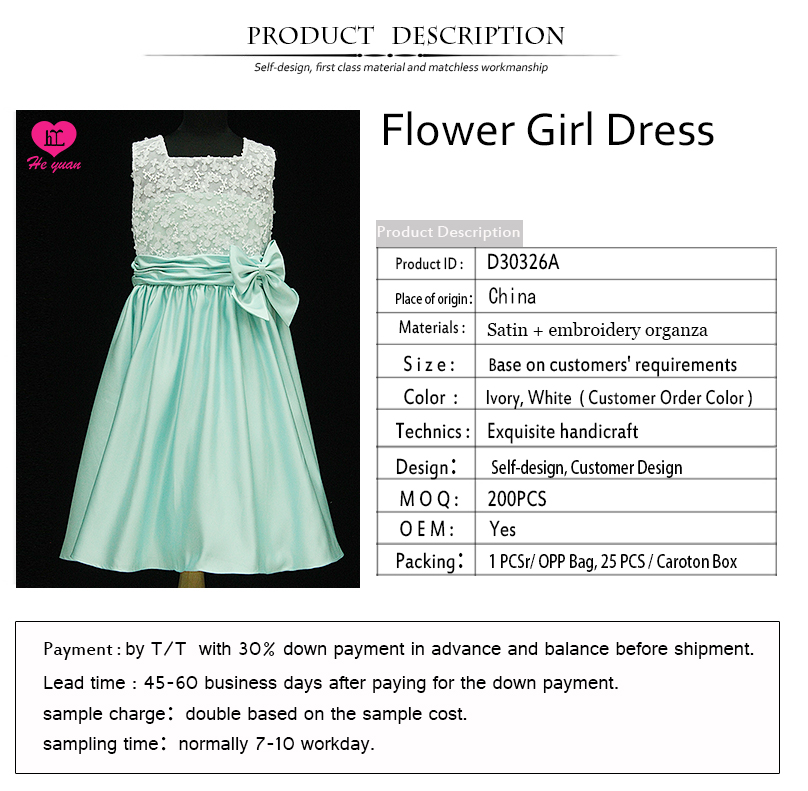 D30326A MT Flower Girls Dresses Soft Lace Dress with Rhinestones girls party dresses