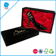 Brand high heels shoes protection and storage cardboard Folding Paper packaging Shoe box for women