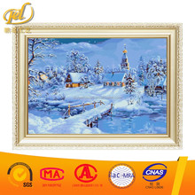 white snow cold winter wholesales diy diamond embroidery painting canvas picture for wall art a181