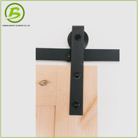 Barn Door Plain Solid Wood Doors Sliding Door Roller