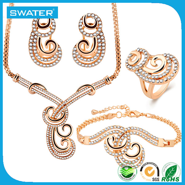 Wedding Jewelry 2016 Ring Earing Bracelet Necklace Sets For Women
