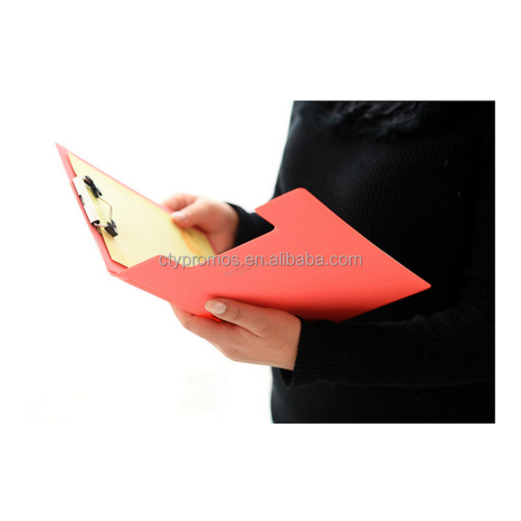 High Quality Storage Leather Clipboard With File Pocket And Metal Clip
