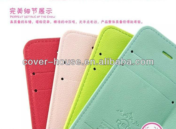 Hot vente cerise série portefeuille PU étui en cuir avec étui titulaire de la carte pour Samsung GALAXY Note 2 N7100
