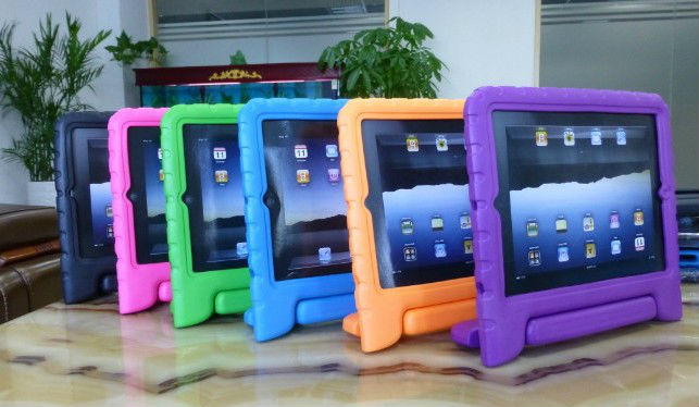 HOT SALE!!!Multi Function Child / Shock Proof Kids EVA Cover Case with Stand / Handle for Apple iPad 2nd / 3rd / 4th