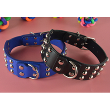 "Custom Size Cheap Pet Products 2"" Wide Anti Bite Spikes Studded Dog Collar Large"