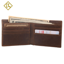 Minimalist thin rfid wallets & holders custom leather wallet money clip slim cash travel holder wallet for men with coins pocket