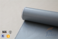 0.5mm electrical thermal insulation silicone rubber coated glass fabric