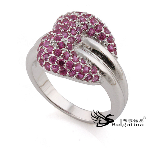 Wedding Silver Rings With Full Crystal Pave,Fashion Silver Rings 925 Stamped New Design Rings Wholesale